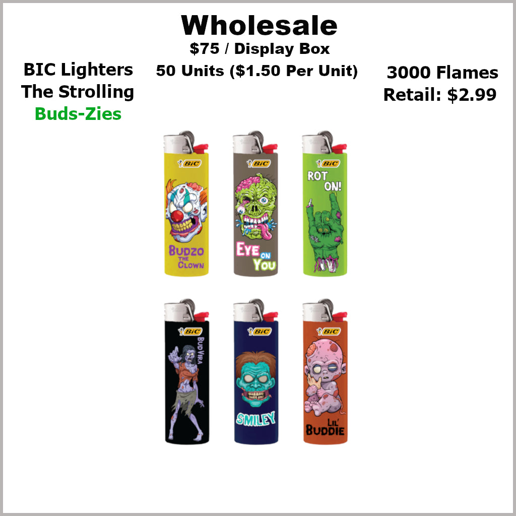 Lighters- BiC Strolling Bud-Zies Collection (50 Units)
