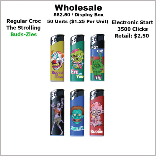 Lighters- Croc Regular Strolling Bud-Zies Collection (50 Units)