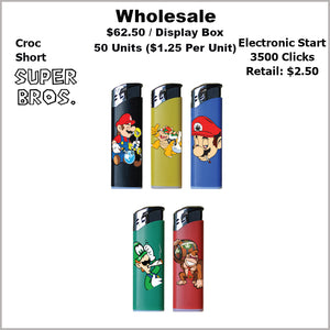 Lighters- Croc Regular Super Bros Collection (50 Units)