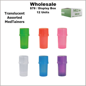 Medtainers- Plain Assorted Translucents Only (12 Units)