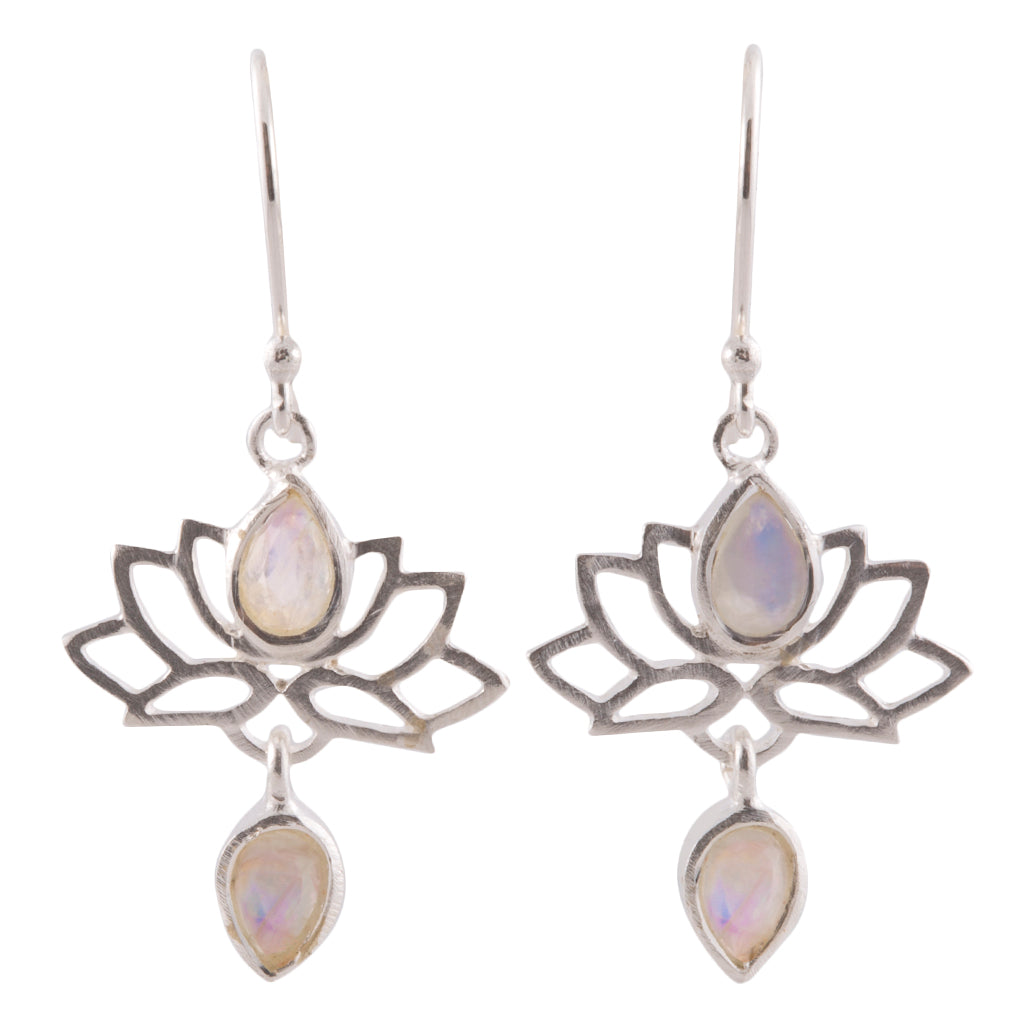 Lotus flower jewelry, semi-precious stones, sterling silver, vermeil, yoga lifestyle