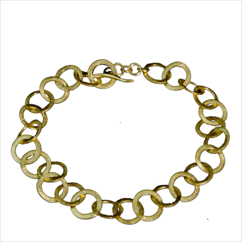 Vermeil Gold Links Bracelet Classic Bold Trendy Fashion Style Affordable