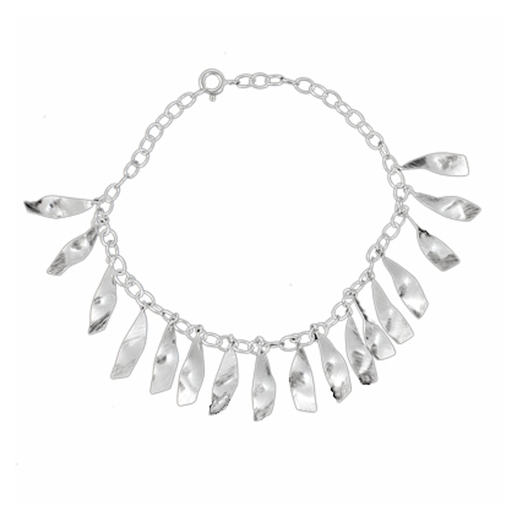 Silver Shard Chain Bracelet Boho Stylish Trendy Pretty Dangle Cute Fashionable