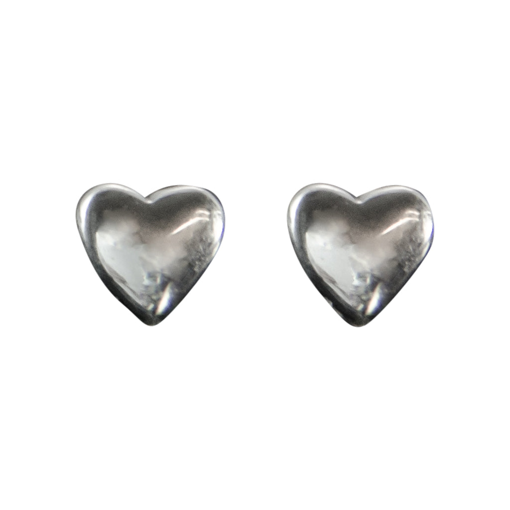 Heart Sterling SIlver Stud Cute Simple Polished Post