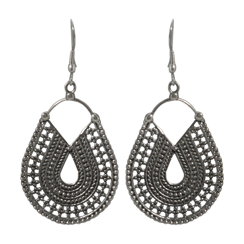 Inca Trail Earring Silver Delicate Affordable Gorgeous Silver Cute Intricate Boho Style Trendy