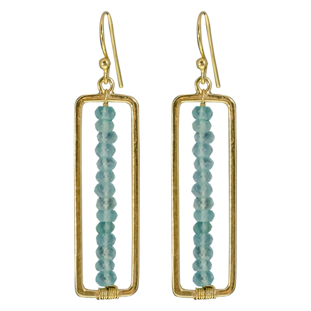 Earring Stone Gold Vermeil Cute Trendy Adorable Sparkly