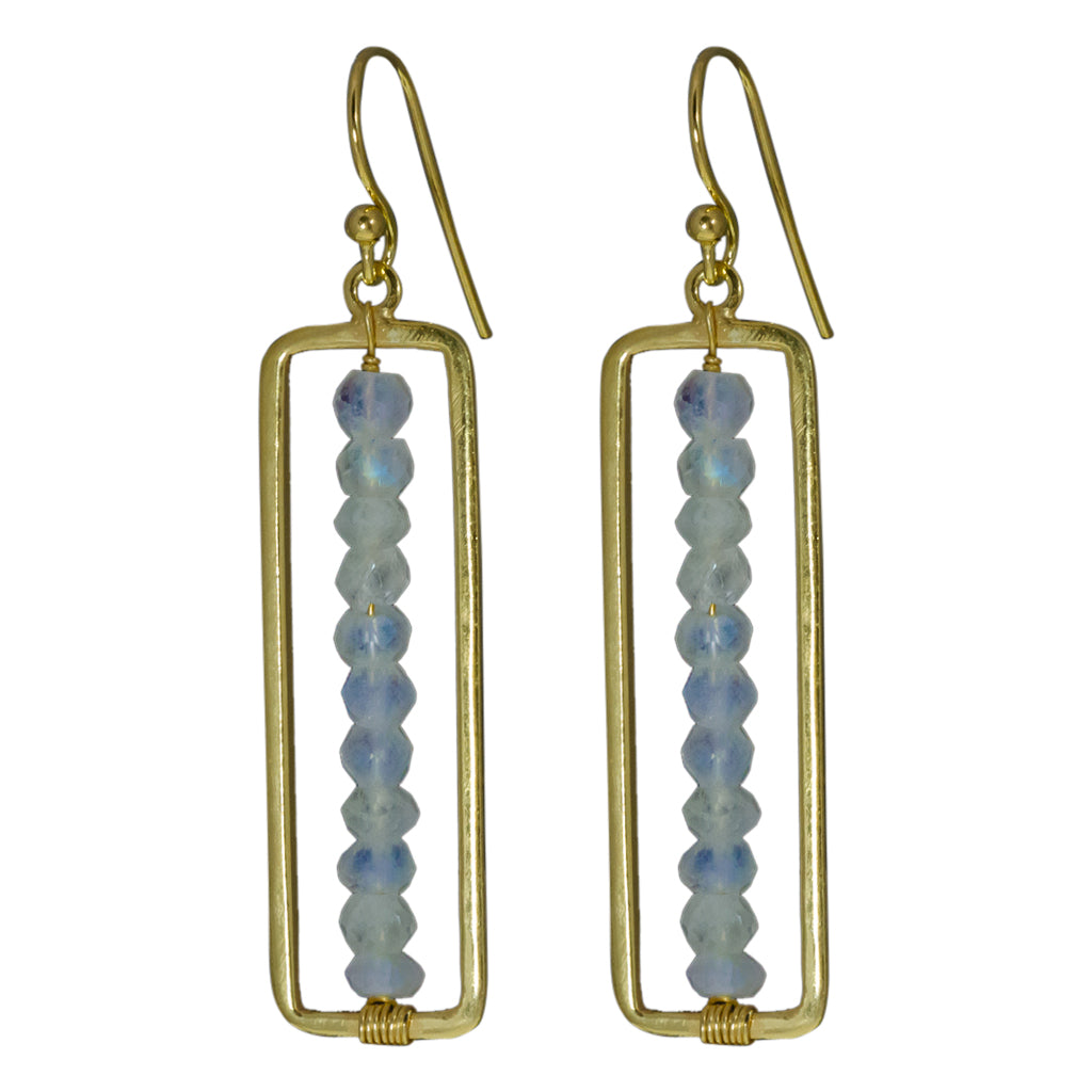 Stone Earring Gold Vermeil Pretty Trendy