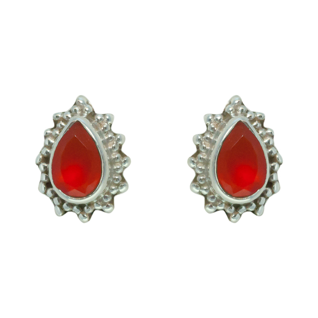 Carnelian Earring Cher Cute Silver Affordable