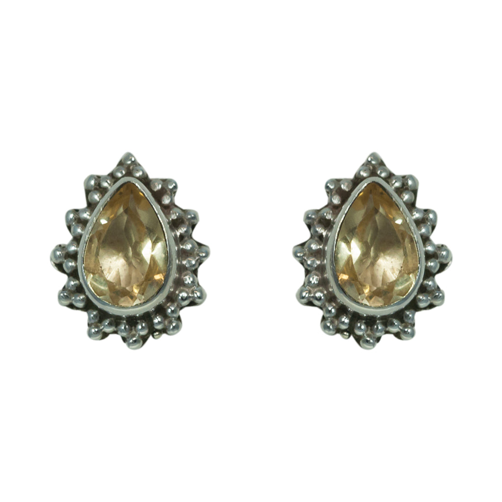 Citrine Silver Earring Affordable Trendy Classic Cute