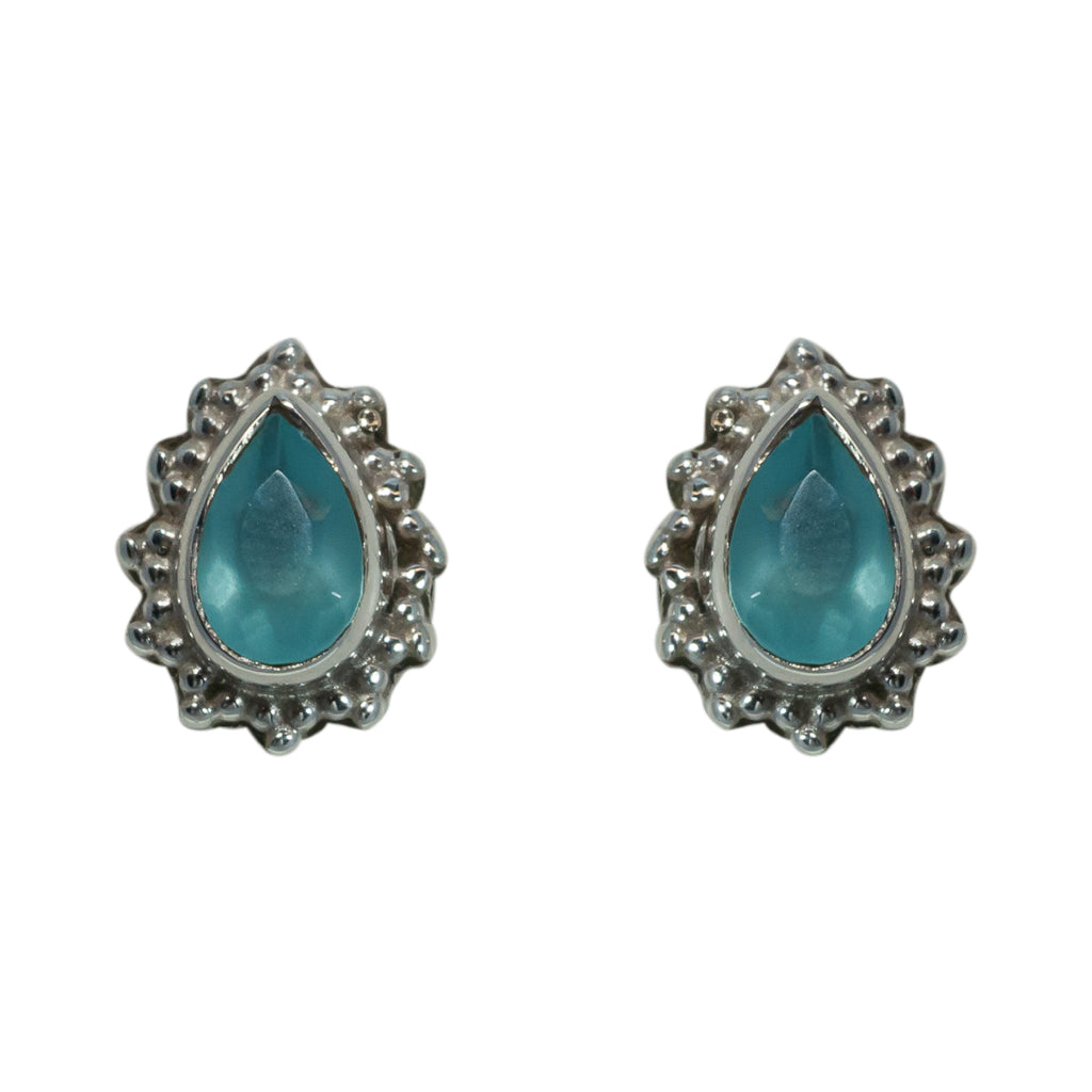 Sky Blue Chalcedony Earring Adorable Cute Chic