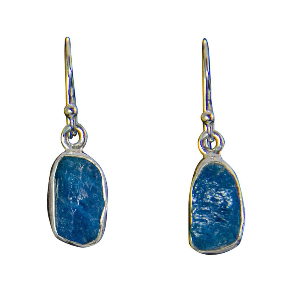 Blue Apatite Pretty Elegant Silver Boho Earring Stunning Fresh Dangle