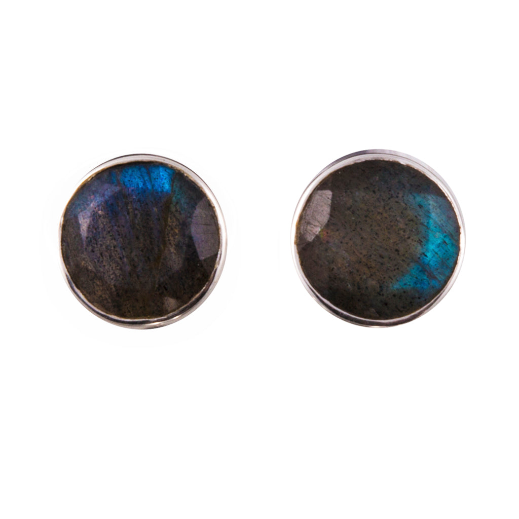 Labradorite silver post earring affordable