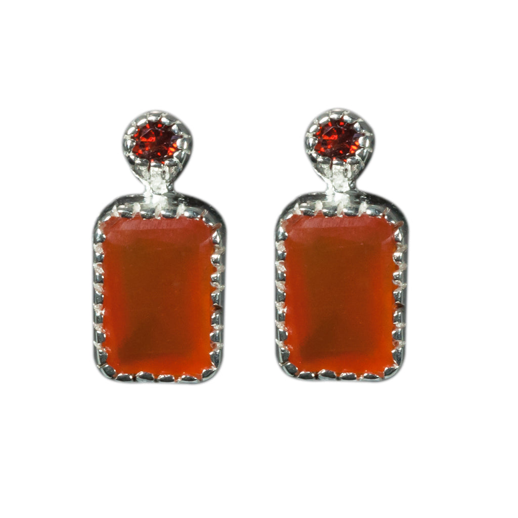 Itsy Earring Garnet Carnelian Post Earring Affordable