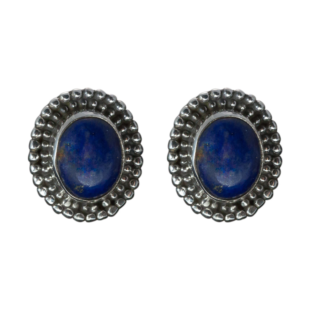 lapis oval post earring affordable