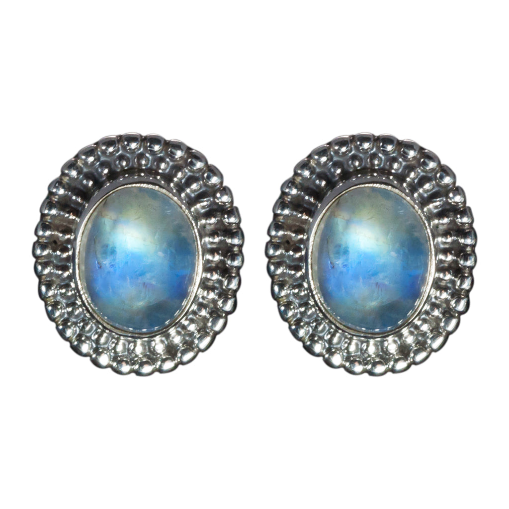 Rainbow moonstone jewelry handmade post earring