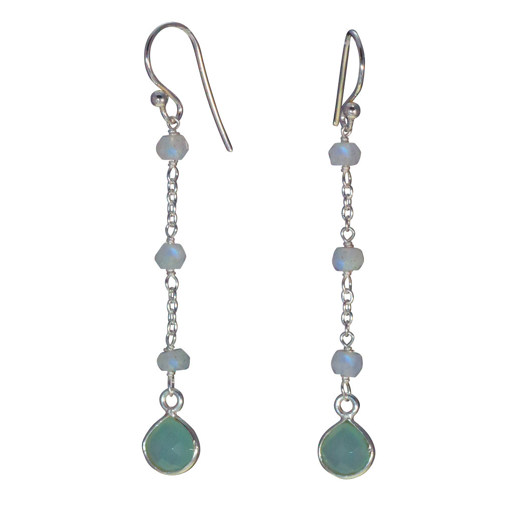 Chalcedony dangle earring affordable simple cute