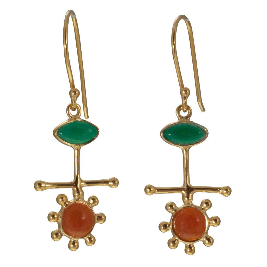 Mars Blooms vermeil earring stone affordable dangle
