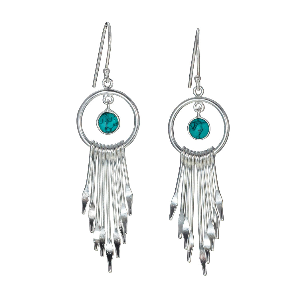 Cheyenne silver turquoise affordable earring