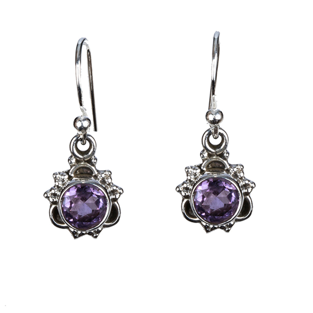 Affordable amethyst star dangle hadar earring