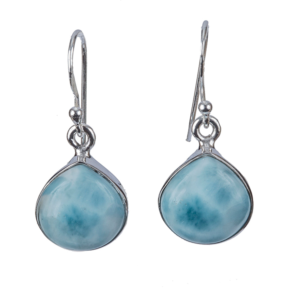 Affordable silver Larimar earring beautiful stone elegant legends