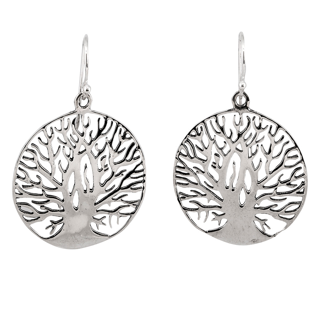 silver earring tree large dangle nature affordable