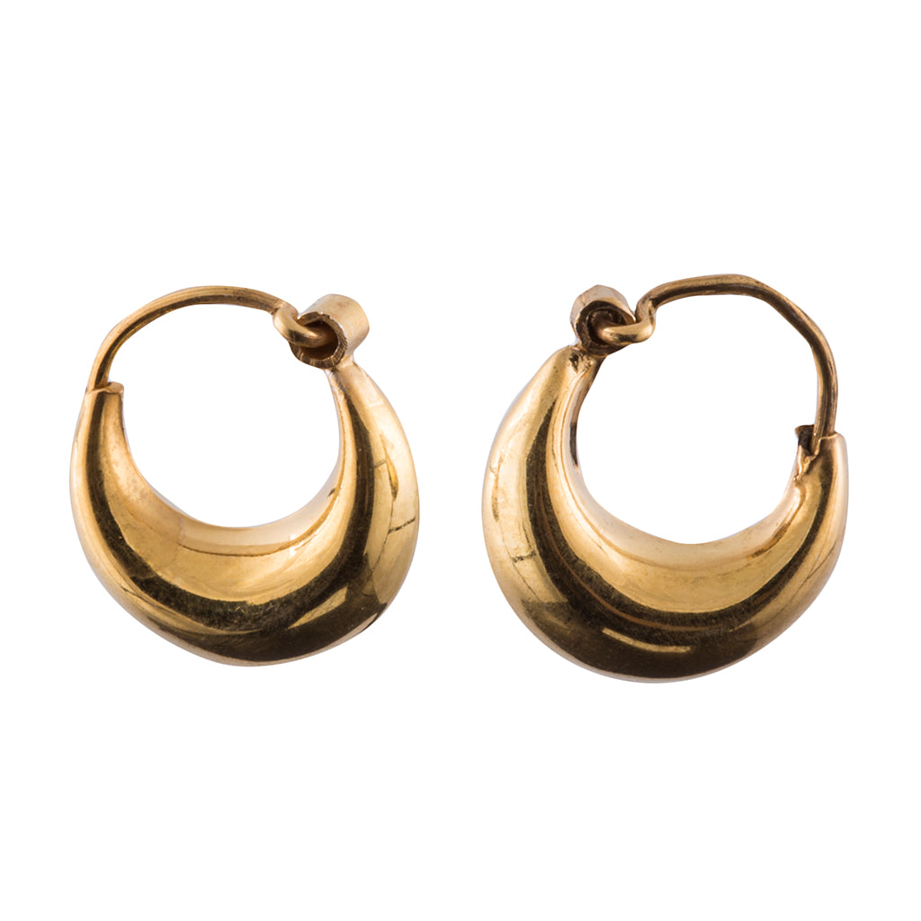 Vermeil chubby hoop earring affordable