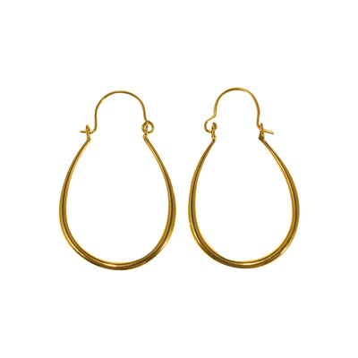 affordable brass hoop classic medium oval