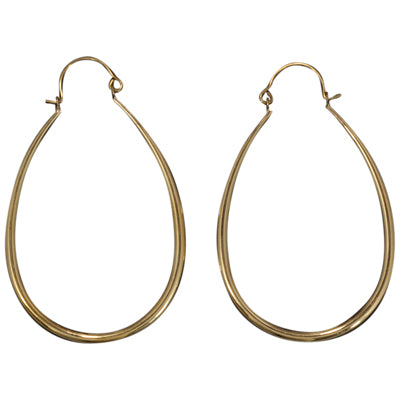 Large brass hoop cute elegant classic affordable