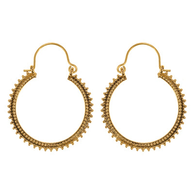 Earring indicate hoop brass lyon affordable