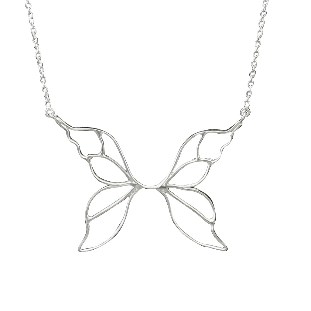 Butterfly Bella Silver Chain Cute Delicate Affordable Elegant Trendy