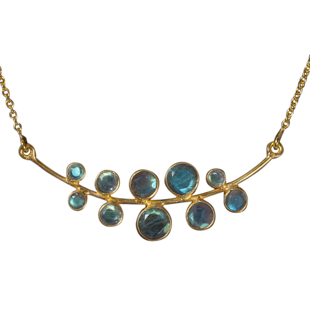Bubbles necklace vermeil affordable labradorite cute  stone boho style