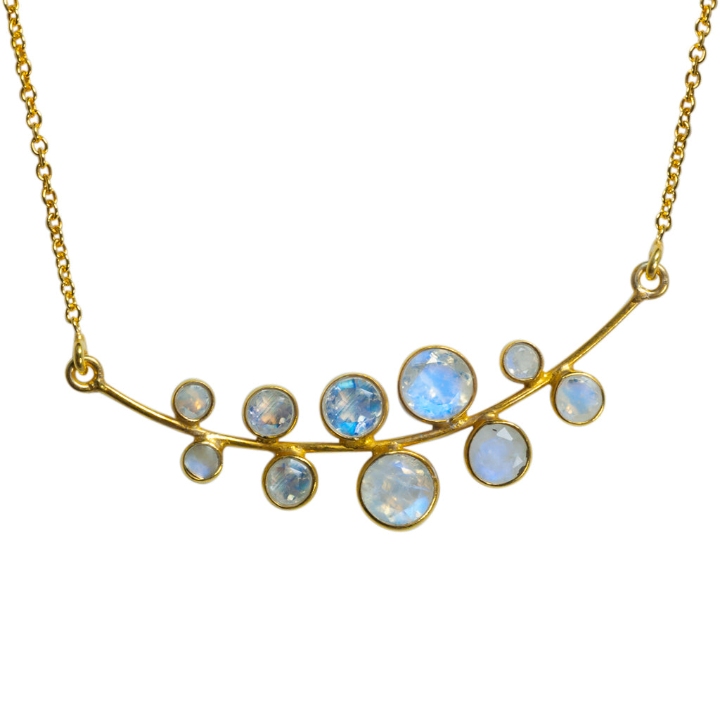 Bubbles necklace vermeil affordable stone boho style
