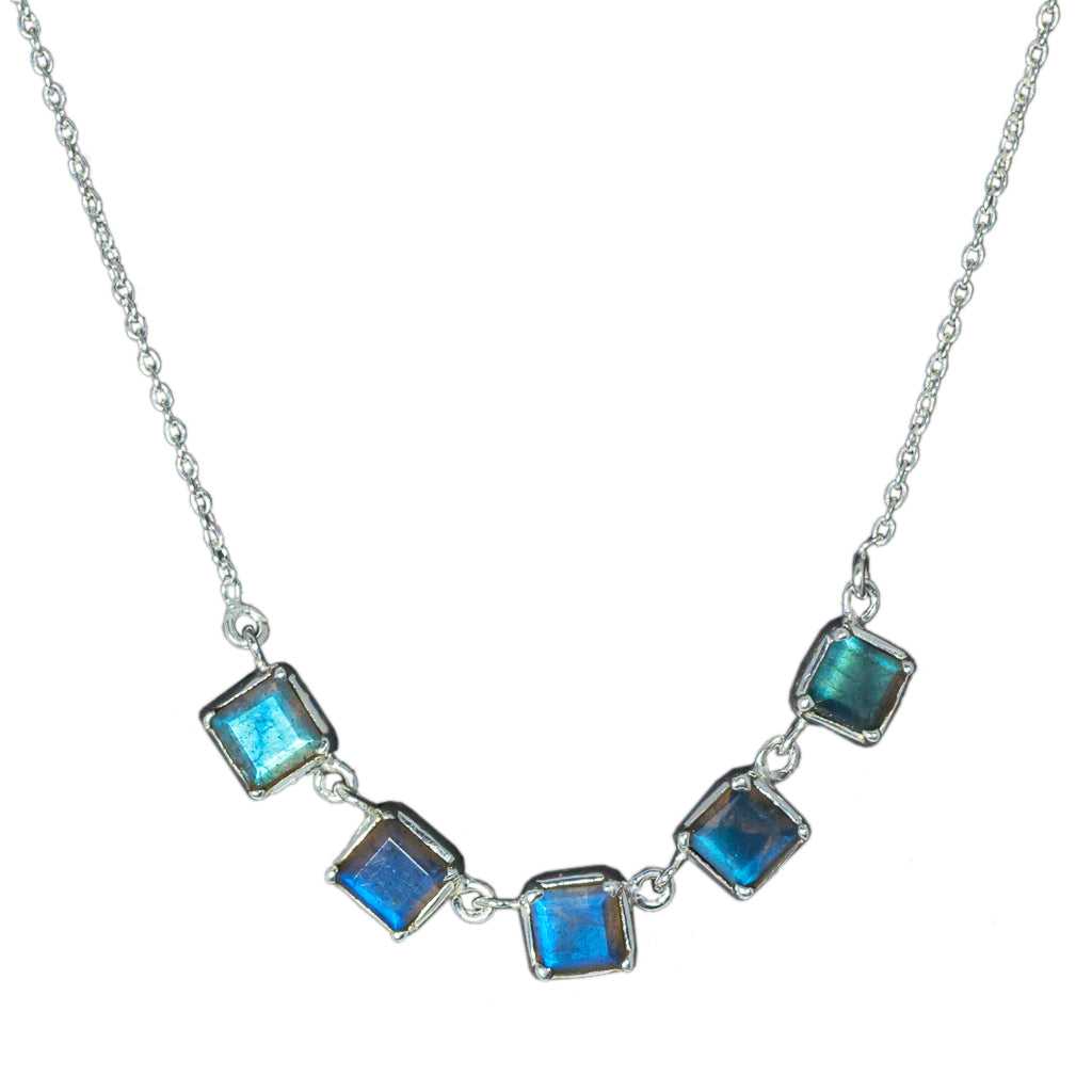 Labradorite stone monopoly necklace affordable