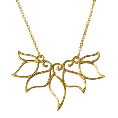 Curlicue Lotus Petals Necklace