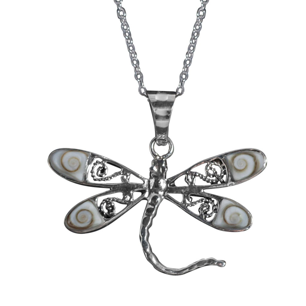Silver Shiva Shell Eye Pendant Necklace Pretty Delicate