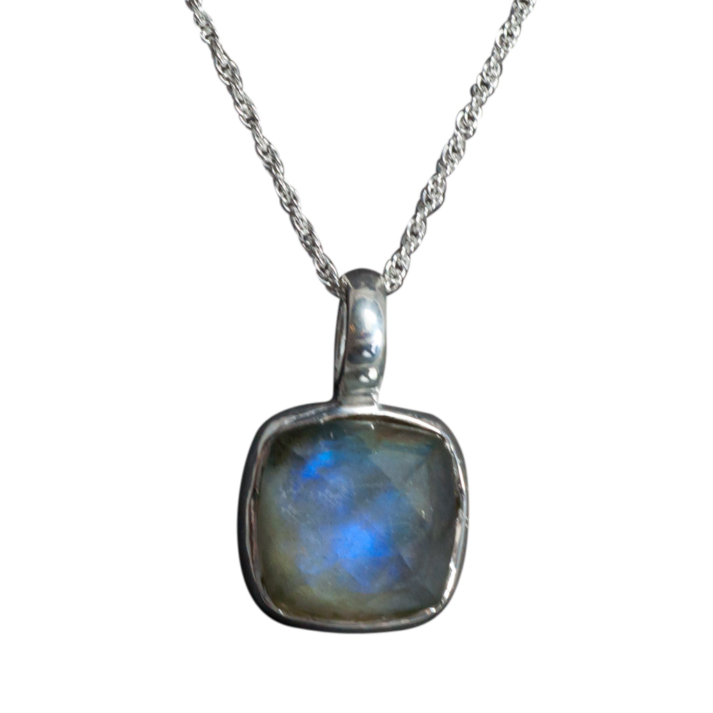 splendid pendant labradorite square stone affordable chain crystal