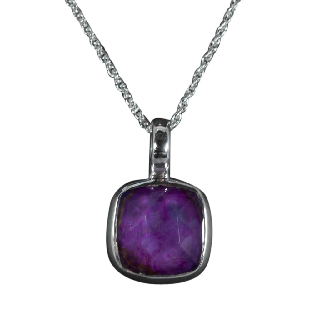 purple turquoise splendid pendant boho style square stone affordable chain crystal