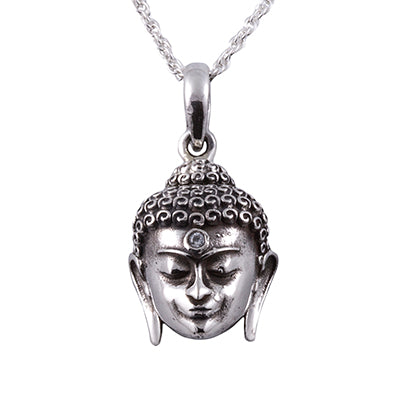 Silver buddha pendant necklace yoga affordable jewelry