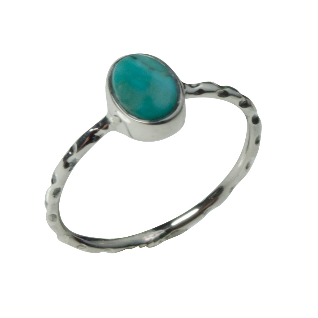 Turquoise Blue Silver Pretty Cute Stackable Affordable