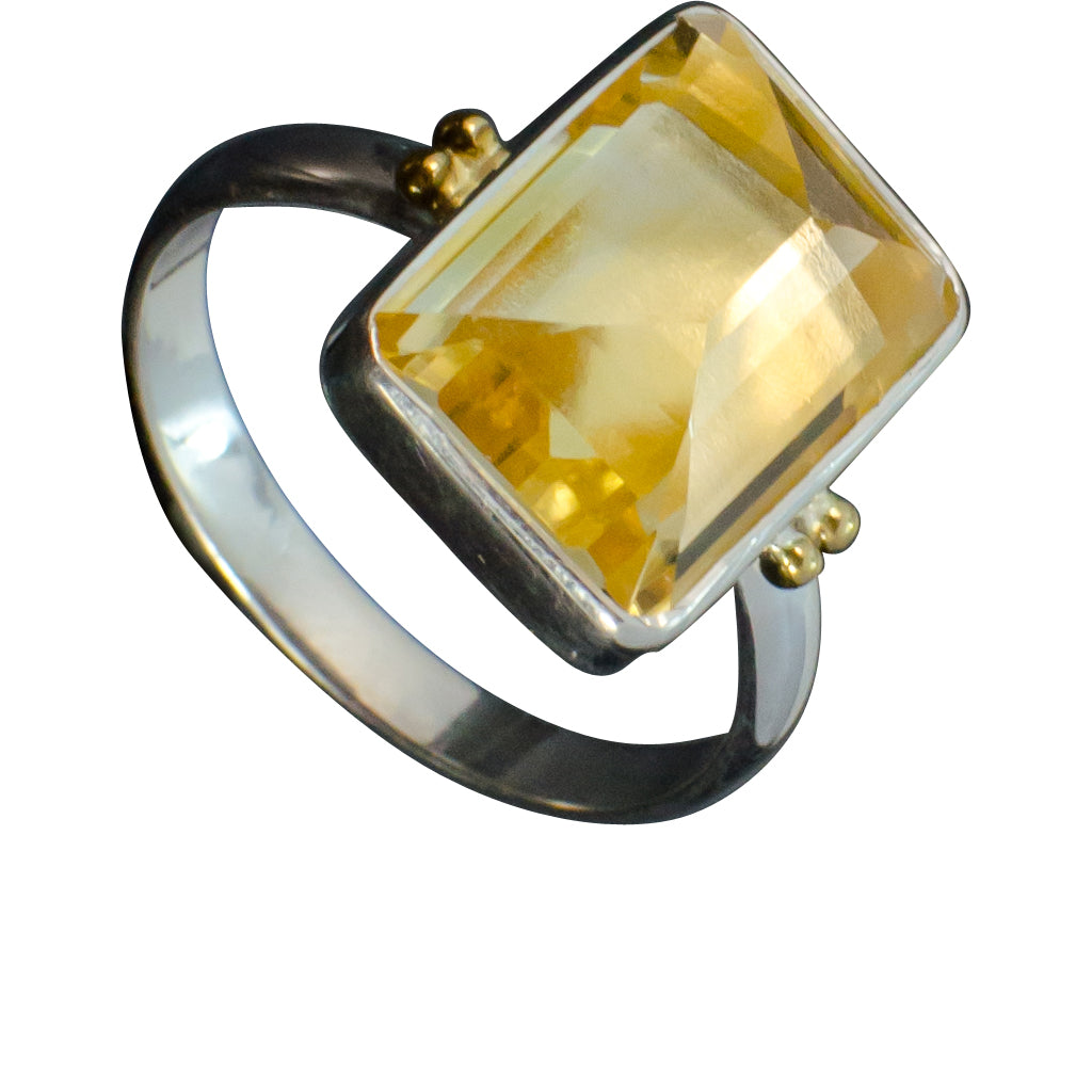 Citrine Silver Vermeil Beautiful Cinderella Gold Yellow Affordable Ring