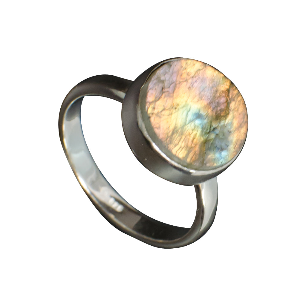 Silver Rough Labradorite Ring Moon Affordable Boho Stylish Cute