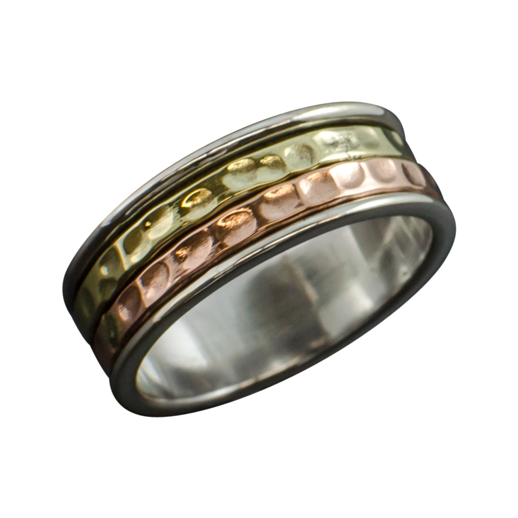 Spinner Ring Elemental Silver Copper Brass Trendy Affordable  Stylish