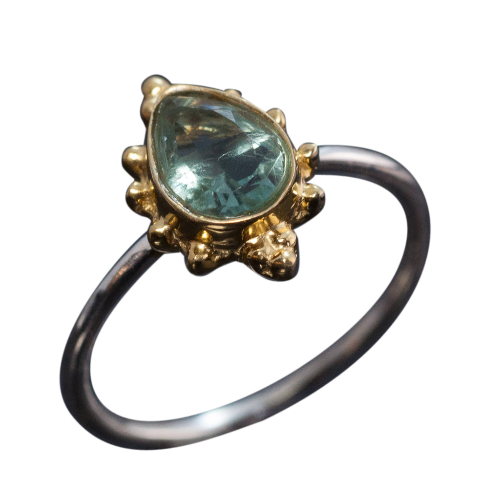 Apatite Ring Stone Cher Affordable Cute Trendy Stackable Trendy Boho Style Stunning