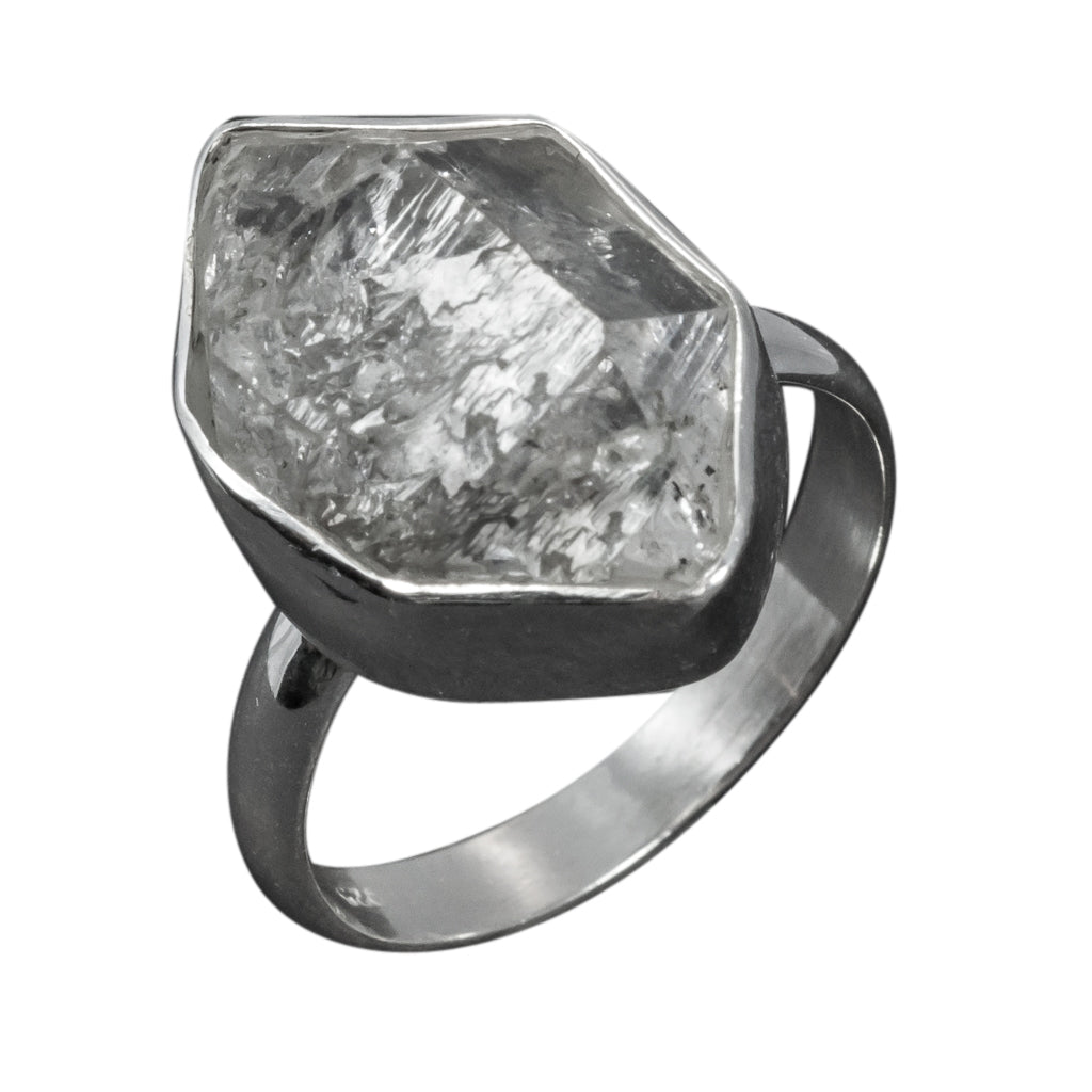 rock quartz herkimer ring stone boho style affordable ring