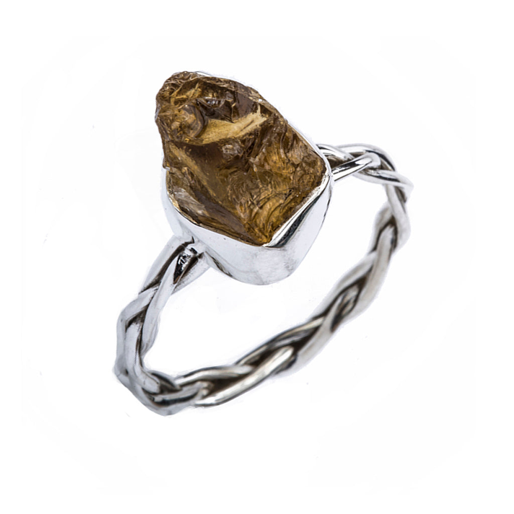 Silver citrine affordable ring