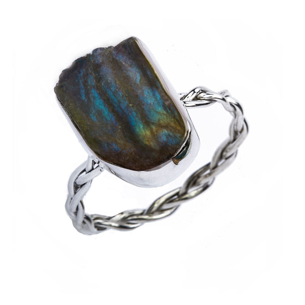 Silver labradorite raw stone affordable