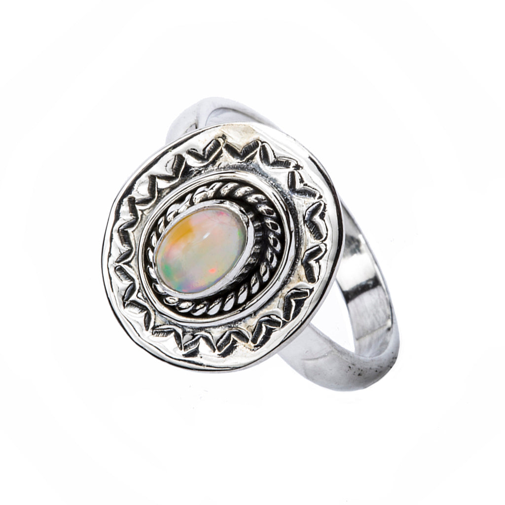 Silver opal ring affordable design intricate