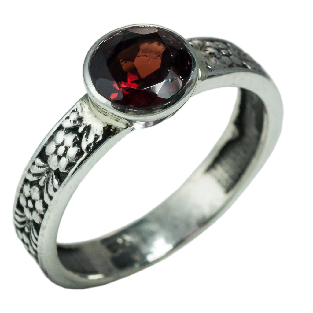 garnet stone silver intricate styleaffordable