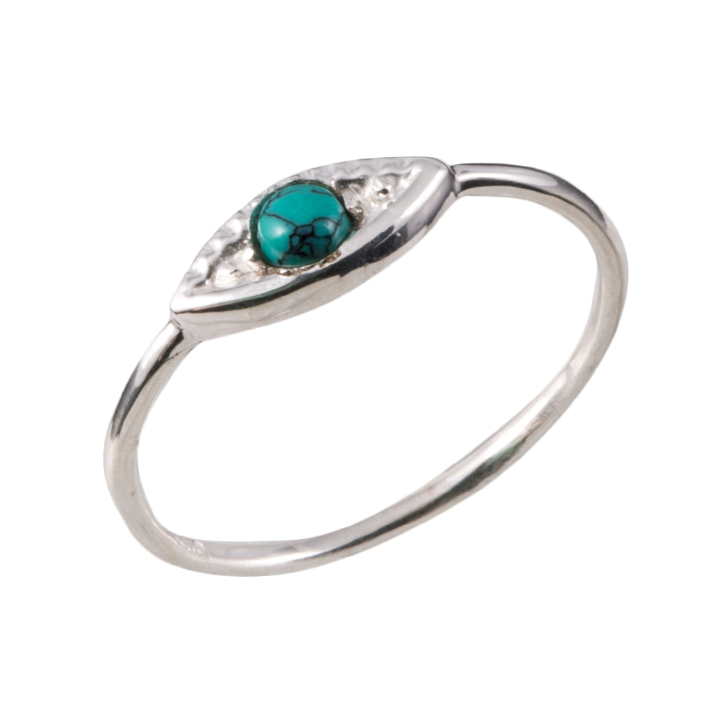 silver ring, jewelry, evil eye, turquoise semi-precious stone