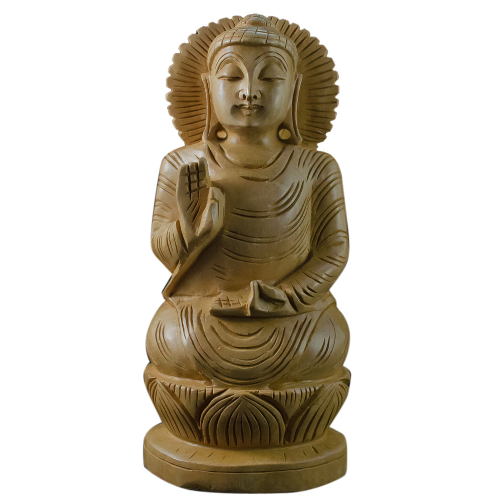 Buddha Wooden HandCarved Small Statue